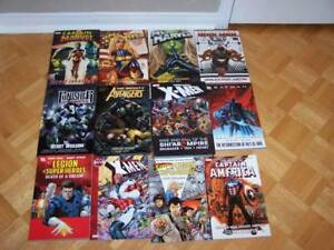 22 large MARVEL & DC graphic comics - 7 are hardcovers