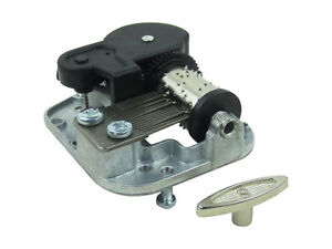 Wind Up Musical Movements Parts DIY for Music Box with Canon in D Tune