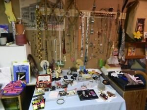 Jewelry most never used – necklaces, ear-rings, etc