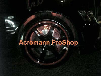 "4x 3/"" 7.6cm RALLIART alloy wheel spoke Decal Sticker Evo V VI Lancer R01 Eclipse"