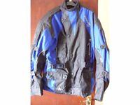 AKITO Python II motorcycle riders jacket, blue/black, size Large