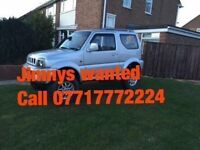 WANTED FOR CASH SUZUKI JIMNY