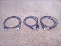3 USB 3.0 A-B Cables (each approx 118cm long). £1.25 each or all three for £3