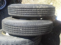 8R 19.5 Toyo tires and 10 bolt Ford Rims