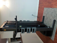 CROSSTRAINER Treadmill with fold down weight bench