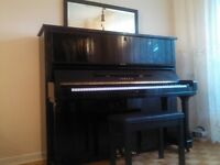 Yamaha piano model U3 for sale with bench, $3500