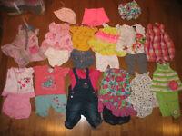 Vêtements fille été 3-6 mois