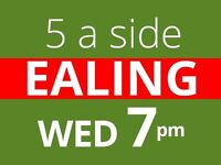 Wednesday 7pm - Friendly 5 a side football at Ealing needs players