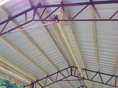 24' pole barn steel truss agriculture