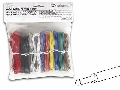 Velleman 10 Color Solid Core Hook-Up Wire Kit 24 AWG Gauge Set Assortment