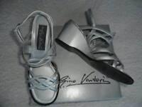 Silver Gino Ventori sandals (size small 5)