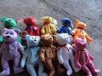 job lot of ty bears