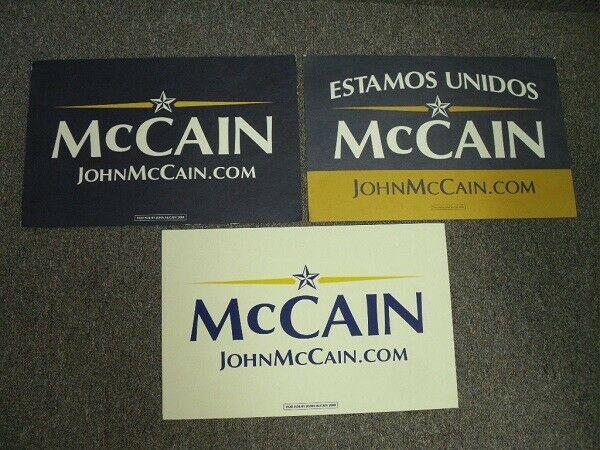 John McCain 2008 Campaign Poster Set
