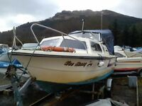 Norman 20 for sale,good boat with auxiliary engine and mooring,the trailer is only for launching.
