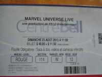 Billets Marvel Universe à vendre