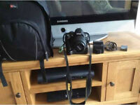 Fantastic Nikon d3000 for sale had it from new, lens, memory SD card