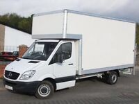 Man and Van Big Luton Van with Tail lift, available 24/7 on Short Notice