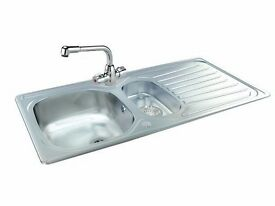 Stainless steel Carron Phoenix kitchen sink and matching mixer tap. BRAND NEW IN BOXES. RRP £200+