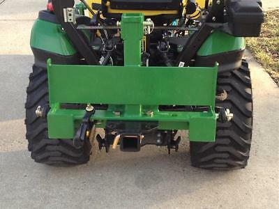 TRANSFORMER 3 Point Trailer Hitch for John Deere Imatch w/Suitcase Weight Rack