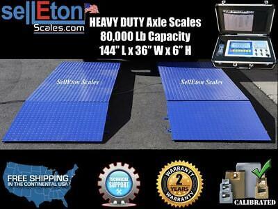 Truck Axle Scales 12 X 3 Heavy Duty Sl-80kx 2 Year Warranty 80000 Lbs X 10 Lb