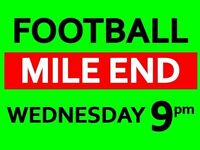 Wednesday Night Footy in Mile End, East London. Friendly session. Open to all