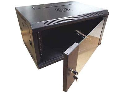 """CNAweb 19"""" 6U Wall Mount Network DVR NVR Data Cabinet Enclosure - Black"""