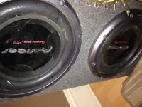 4000 watt amp two 12s all wires and cd deck