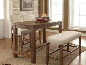 Gathering 30 x 60 table with 2 chairs and a bench,all for $899