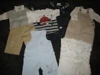 BUNDLE 6 - BUNDLE OF BOYS CLOTHES SIZE AGE 3-6 MONTHS