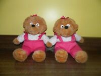 2 Berenstain Sister Bears dolls from childrens TV show