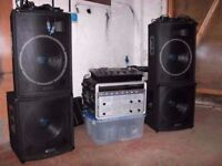 skytec speakers cabs for top and bass bins - For parts or not working