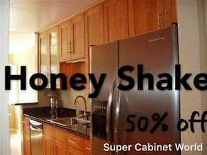 Solid Wood Honey Shaker Kitchen Cabinet/Cabinets On Sale!
