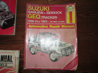 Haynes Suzuki samurai sidekick Geo tracker REPAIR MANUAL