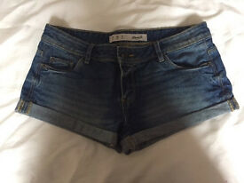 Women's dark blue denim shorts, size 10