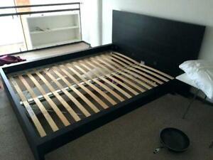 IKEA Malm King Bed + Nightstand