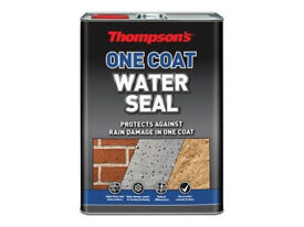 5 litre thompsons one coat water seal. 12 cans available. suitable for roofs, brickwork etc.