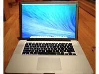 MacBook Pro 17 inch 3.4 quad core I7 256GB SSD 8Gb Ram & Logic Pro X