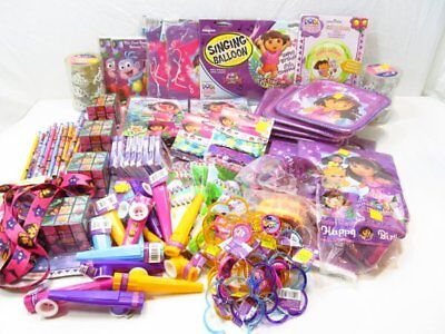 Dora Decorations (Dora The Explorer Kids Birthday Party Bundle Lot Decorations Invitations)