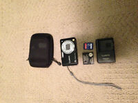 Panasonic Lumix Camera with Charger, Case and 8 GB SD Card