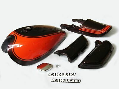 1973 kawasaki z1 Painted Body Work Kit gas tank tail cowl side covers fuel cap