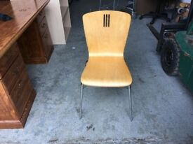Wooden visitor's chair