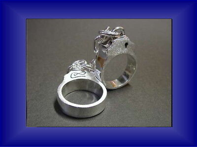 Handcuffs ring Sterling Silver 925 Rare Boon Jewelry Men