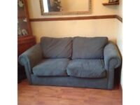 Sofabed green draylon