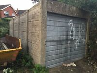 GARAGE - Concrete Sectional Garage with Up & Over Door - DISMANTLED & Ready to Collect - 07504706927