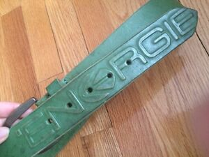 ENERGIE genuine leather belt green Made in Italy