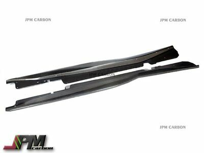 Z06 Z07 Style Carbon Fiber Rocker Panel Side Skirt For 14+ Corvette C7 Stingray, used for sale  Shipping to Canada