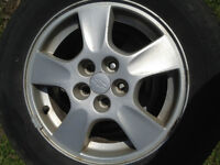 "5 Bolt 15"" Alloy Rims with Tires"
