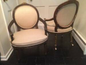 Pair of vintage bergere chairs