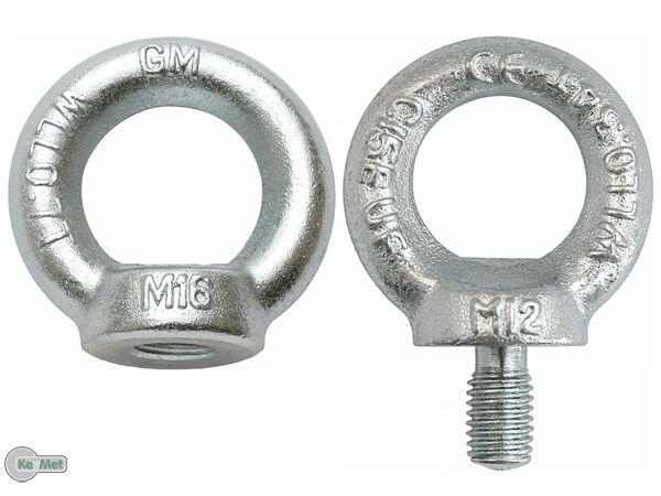 M24 mm DIN 580 Öse Zurröse Ringschrauben Kranöse Ringschraube Ösenschraube M6
