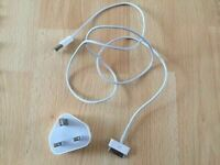 Apple iPhone 4s/4/3GS/3G/2g charger and plug
